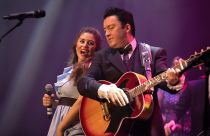 Clive John as Johnny Cash and Emily Heighway as June Carter