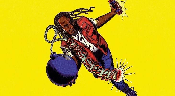 Colour cartoon of Reginald D Hunter