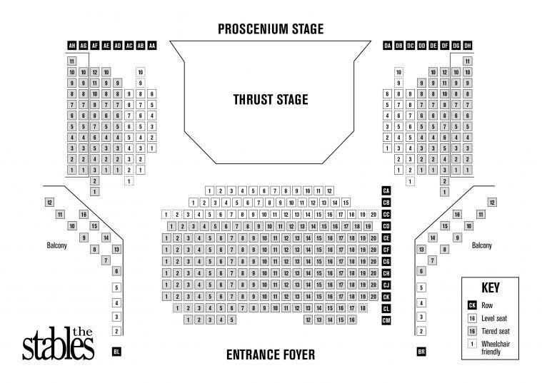 Jim Marshall Auditorium seating plan